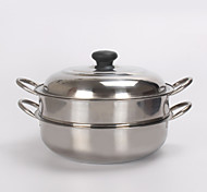 Magnetic Stainless Pot With Single Bottom Ears On The Second Floor Soup Tureen Steamer Pot with Stainless Steel  Cover