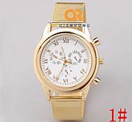 Sra. relojes elegantes marea personalidad de la moda retro roma tres veces decorada escala pequeña
