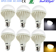 YouOKLight® 6PCS E27 15W 24*SMD5630 1000LM Warm White/ White Light  LED Energy saving Globe Bulbs (AC 220V)
