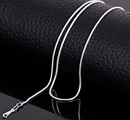 24K Silver Plated 17 Inchs(42cm) 3mm Width Chain Necklace Accessories
