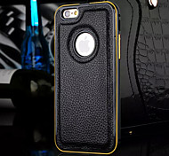 For iPhone 5 Case Other Case Back Cover Case Solid Color Hard Genuine Leather iPhone SE/5s/5