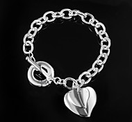 Fashion Noble 925 Silver Sterling Chain & Link Bracelets For Woman&Lady