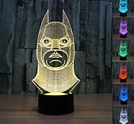 Visual 3D Batman Model Mood Atmosphere LED Decoration USB Table Lamp Colorful Gift Night Light