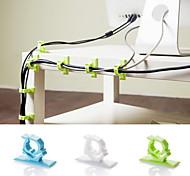 Adhesive Plastic Wire Collector Bobbin Winder(4 PCS Random Color)