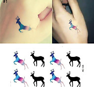 Tattoo Stickers Tattoo Stickers Christmas / New Year Stickers Paper 1pcs or 14pcs of set