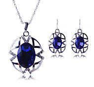 Europe and the United States to restore ancient ways pattern hollow out necklaces earrings suit Luxurious big diamond # 0217