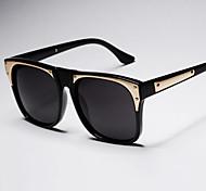 Sunglasses Men / Women / Unisex's Retro/Vintage / Fashion Square Black / White / Gold / Blue Sunglasses Full-Rim