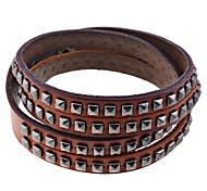 European Style  Rivets Pattern Genuine Leather Bracelet