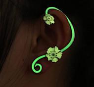 Punhos da orelha Liga Formato de Flor fluorescência Jóias Para Casamento Festa 1peça