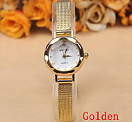 Europe And Selling Simple Fashion Ladies Watch Dial Alloy Belt Quartz Watches in Geneva Cool Watches Unique Watches