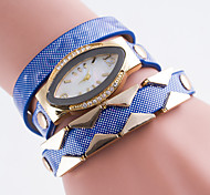 Women's Bracelet Watch Simulated Diamond Watch Imitation Diamond Quartz Leather Band Black White Blue Red Brown Pink Purple Navy