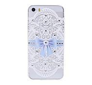 mais recente caso de telefone padrão arco swarovski diamante de alta qualidade relevo a laser toque para iPhone 5 / 5s
