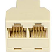 shengwei® rs-412 rj45 1 puerto macho a 2 adaptador de conexión de puerto hembra por teléfono