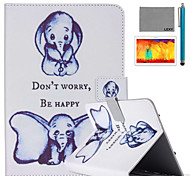 LEXY® Small Elephant Pattern PU Leather Flip Stand Case with Screen Protector and Stylus for iPad Air 2/iPad 6