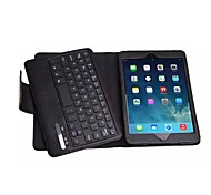 high quality Bluetooth keyboard with leather cover stand case for ipad mini 1 2 3