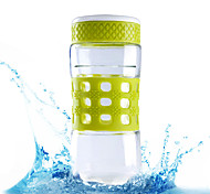 """""""500ml Glass Cup Transparent Sports Cups Kettle Plastic Cups Portable Outdoor Leakproof Bottle"""""""
