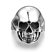 Ring Jewelry Steel Skull / Skeleton Silver Jewelry Casual 1pc