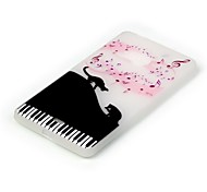 For Nokia Case Glow in the Dark Case Back Cover Case Cat Soft TPU Nokia Nokia Lumia 540