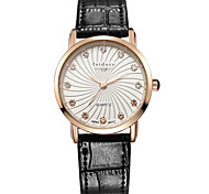 Women's Genuine Leather Water Resistant With Zircon Wrist Watches Cool Watches Unique Watches