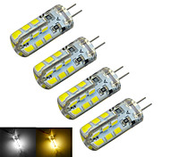 Jiawen 2015 Hot sale! [ 4pcs/lot ] LED G4 Bulb DC12V 1.5W SMD2835 24leds Cool whie / Warm White LED bulbs lamp