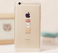 Delicious Food Macaron Candy Pink Color Dessert Pattern TPU Soft Case for iPhone 5/iPhone 5s