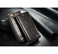 caseme véritable luxe portefeuille en cuir emplacement de la carte de couverture de cas flip avec support pour iPhone 5 / 5s (couleurs