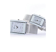 Women's  Fashion Large And Small Size Diamante Rectangle Dial Steel Wire Band Quartz Analog Wrist Watch(Assorted Color) Cool Watches Unique Watches