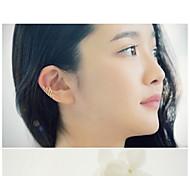 Earring Clip Earrings Jewelry Women Silver Plated 2pcs Silver