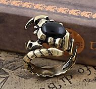 Gothic Men'S Individuality Black Stone Ring
