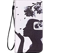 Dandelion Girl Pattern PU Material Card Lanyard Case for Samsung S3/S4/S5/S6/S6 Edge/S6 Edge Plus/S3mini/S4mini/S5mini