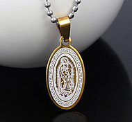 Fashion Golden 316L Stainless Steel Pendant Necklaces 1pc
