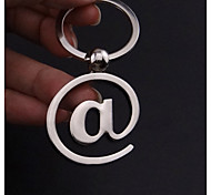 Little Mouse @ Character Keychain Creative Computer Keyboard Letter Key Pendant Key Ring Personalized Gifts