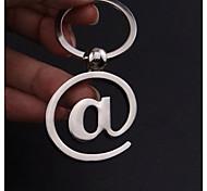 petits cadeaux caractère @ de la souris lettre de clavier d'ordinateur créative trousseau clé pendentif porte-clés personnalisés