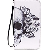 HZBYC®White Skull Pattern PU Material Card Lanyard Case for Galaxy Note 5