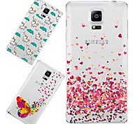 MAYCARI®Loving so Much Soft Transparent TPU Back Case for Samsung Galaxy Note 4 (Assorted Colors)