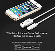 lityus manzana IMF 3.28 pies cable USB certificado (1m) para el iphone 6 / 6s, 6 / 6s plus, iphone 5 / 5s / 5c, protector cable del