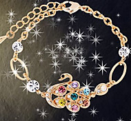 Fashion Jewelry Rhinestone Swan Bracelet