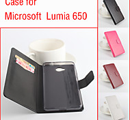 Flip Leather Magnetic Protective Case For Microsoft Lumia 650(Assorted Colors)