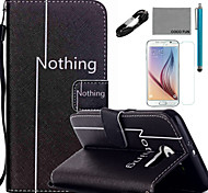 coco Fun® Freizeit Muster PU-Lederetui mit V8-USB-Kabel Folie und Stift für Samsung Galaxy S6 / S6 Rand / S6 Rand Plus