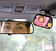 Tirol T22614 Mini Car Baby View Mirror 2 IN 1 / Car Rear Baby Safety Convex Mirror for Car Adjustable Baby Safety Mirror
