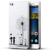Dandelion Lover Kids 3D Printing Carving Hard Back Case Ultrathin Metal Bumper for Huawei P8 Case