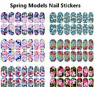 1pcs Glow Full Cover Nail Stickers