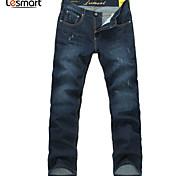 Lesmart Hommes Droite Pantalon Bleu - LW13315