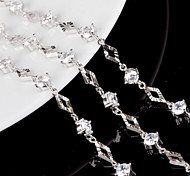 S925 Pure Stering Silver AAA Zircon Crystal Bracelet,Fine JewelryImitation Diamond Birthstone
