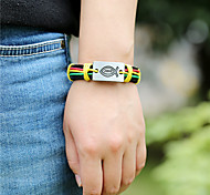 Unisex Alloy Feather Leather Handcrafted Vintage Bracelet
