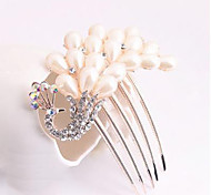 Z&X® Fashion Peacock Alloy Hair Combs Wedding / Rhinestone Party / Daily 1pc