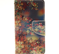 Maple Leaf Design PU Material Cell Phone Case Cover For WIKO Sunset 2