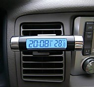 Hot Car LCD Digital backlight Automotive Thermometer Clock Calendar