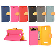 For Lenovo Case Wallet / Card Holder / with Stand / Flip Case Full Body Case Solid Color Hard PU Leather Lenovo