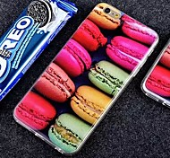 Delicious Food Macaron Candy Pink Color Dessert Pattern  PC Hard  Case for iPhone 6/iPhone 6S